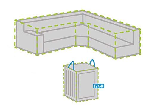 Housse de protection pour salon de jardin en forme de trapèze 275 x 275 cm + housse pour 6-8 coussins
