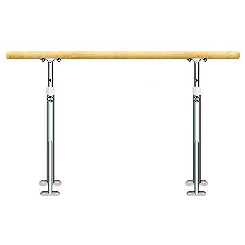 Ballet Barre Bar Ballet Barre, Wall Mounted Dance Fitness Ballet Bar Adjustable Hight 80-120cm Stretch Barre for Adults and Kids Stretch Dance Fitness Bar (Color : Silver, Size : 1M)