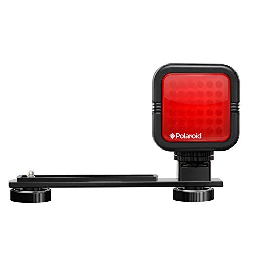 Polaroid Studio Series IR Light Bar –Rechargeable 36 IR LED Light for Use w/ All IR Compatible Cameras & Camcorders – Includes Diffuser Lens, Built-In Li-Ion Battery, Charger & Hot Shoe Mount