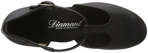 Diamant Damen Tanzschuhe 053-029-034 Standard & Latein, Schwarz (Schwarz), 39 1/3EU (6 UK) - 5