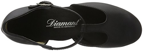 Diamant Damen Tanzschuhe 053-029-034 Standard & Latein, Schwarz (Schwarz), 39 1/3EU (6 UK) - 7