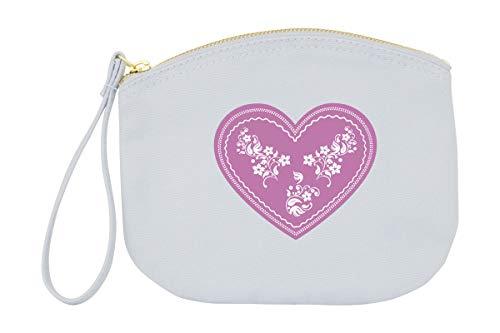 FesttagsLiebe, Wiesn Handtasche Oktoberfest Accessoire Dirndltasche Blau mit Lebkuchenherz Rosa