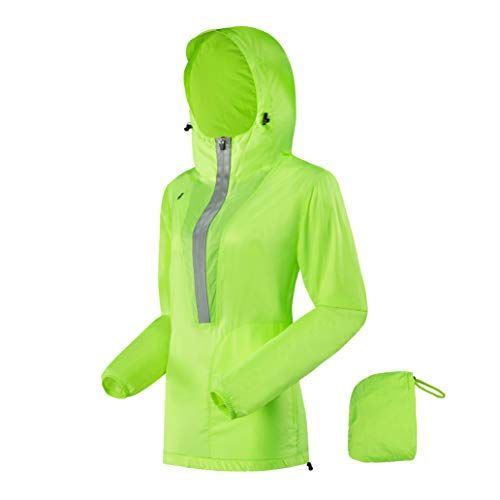 Shelcup Women's Hooded Windproof Reflective Jacket...