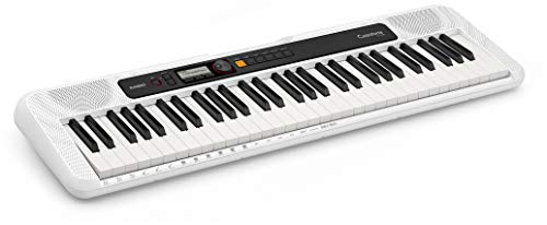 Casio Casiotone CT-S200 61-Key Portable Digital Keyboard Bundle with Adjustable Stand, Bench, Sustain Pedal, Instructional Book, Austin Bazaar Instructional DVD, and Polishing Cloth - White