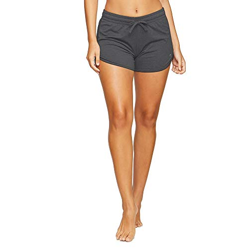Colosseum Active Women's Simone Cotton Blend Yoga and Running Shorts (Black, Small)