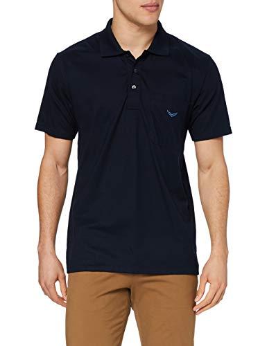 Trigema Herren Trigema Herren Single-jersey 637602 Poloshirt, Blau (Navy 046), L EU
