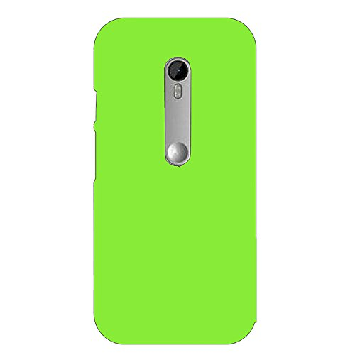 Johra Matte Rubber Green Hard Back Cover for Motorola Moto G3