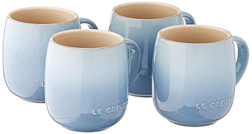 Le Creuset PG70433A-1342 Heritage Mug, Set of 4/13 oz. Each, Coastal Blue