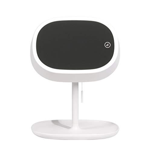 LICCC LED-Füllspiegel Multifunktions-Smart-Spiegel Faltbarer HD-Desktop-Spiegel 24 * 28.2cm (Color : White)