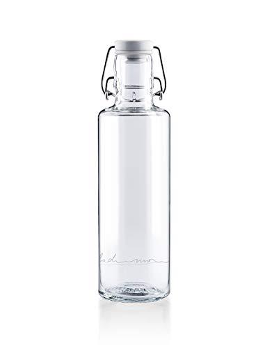 soulbottles 0,6l • Einfach nur Wasser • Trinkflasche aus Glas • plastikfrei, nachhaltig, vegan