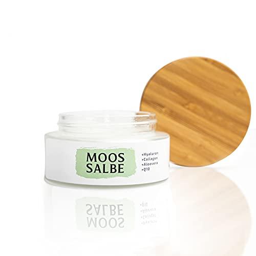 Bio Moossalbe Aktiv + Hyaluron + Collagen + Q10 + Aloe Vera   Anti Falten Creme   100 ml   Hochwertiger Moosextrakt  Satisa