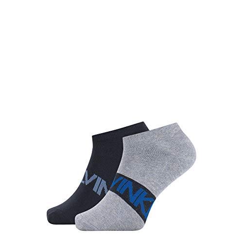 Calvin Klein Socks Mens Intense Power Men's Liner (2 Pack) Socks, denim combo, 39/42