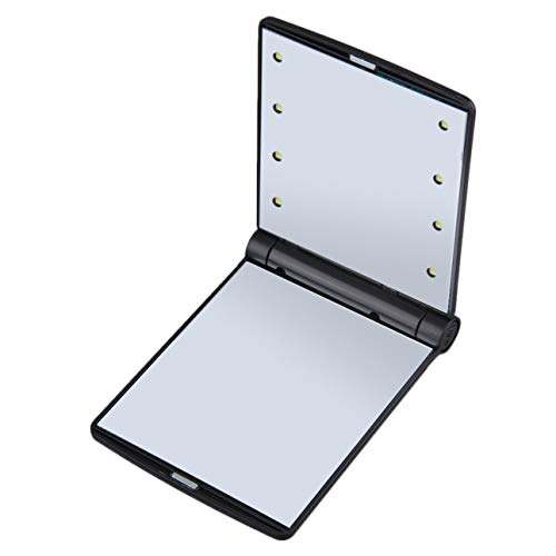 Poche portable à ouverture magnétique pliable compacte LED Make Up Mirror Lady Cosmetic Vanity Mirror Gift Built-in LED Ampoules Mirror of Ballylelly