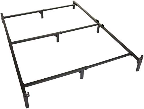 Amazon Basics 9-Leg Support Bed Frame - Strong Support for Box Spring and Mattress Set - Tool-Free Easy Assembly - King Size Bed
