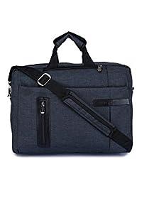 "Verage - Daytona - Melange Fabric 15 litres Briefcase 15.6"" Laptop Compatiable 3 Way Convertible Office Bag/File Bag/Back Pack (Black)"