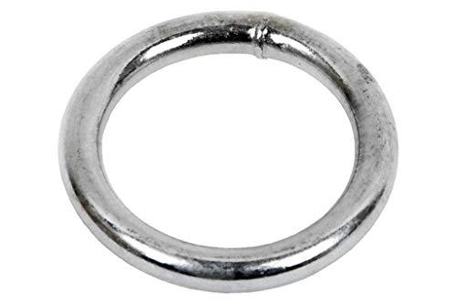 DOJA Industrial | Anillas Metalicas Soldadas | PACK 5 | 8 x 80 mm | Aros Redondos de Metal de Gran Calidad en el Punto de Soldado | Ideal para bolsos, cinturones, cortinas, mochilas, entre otr