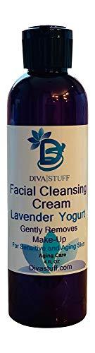 Lavender Yogurt Facial Cleansing Cream For Sensitive/Aging Skin, Gently Removes Make Up, 4oz