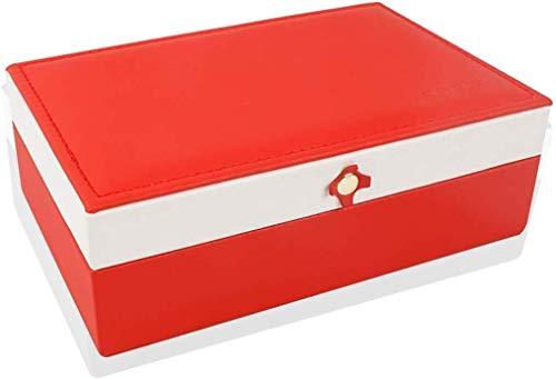 Jewelry Box Sieraden kast sieraden doos, medium-fashioned leer sieraden doos, magnetische gesp ontwerp, geschikt for dames ring, oorbellen, ketting armband opbergdoos sieraden opbergdoos grote sierade