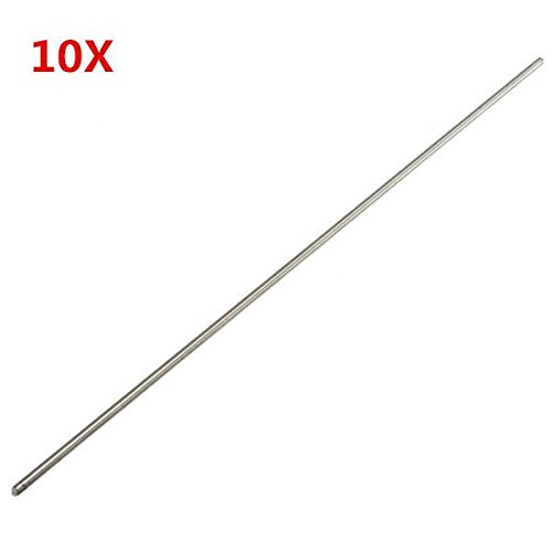 Pukido 10pcs Titanium Alloy Bar Metal Shaft Bar Round Rod 3mm x 250mm Titanium Rod