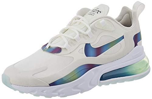 Nike Air MAX 270 React, Zapatillas para Correr para Hombre, Bianco Summit White Platinum Tint White Multi Colour, 39 EU