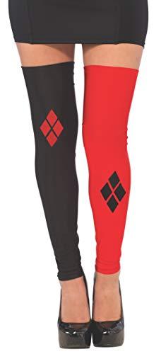 Rubie 's Offizielles Harley Quinn Oberschenkel hohe Strumpfhosen/Leggings Zubehör, Erwachsene Kostüm