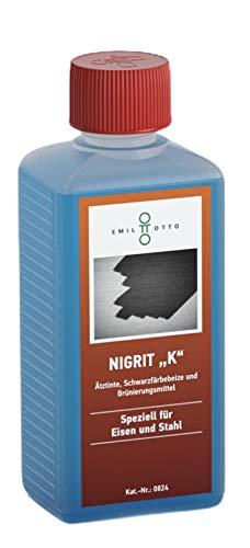 """250 g Schwarzfärbe-Schnellbeize NIGRIT\""""K\"""", zum Kaltbrünieren - Schwarzfärben und Korrosionsschutz von Eisen und Stahl"""