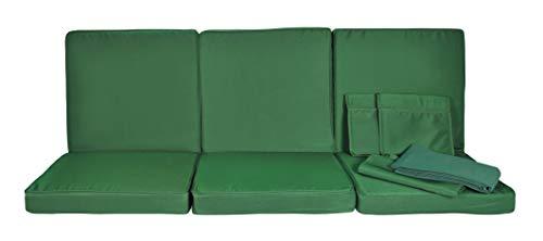 Stiliac 9601T302 Set Cuscini e Tettuccio Ricambio, Verde, 174x58x8 cm