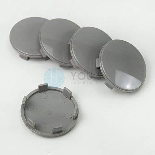 5 x Nabenkappen Nabendeckel Felgendeckel 60,0-55,5 mm - Z06L - grau