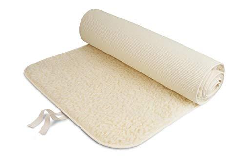 Bausinger Unisex– Erwachsene Yogamatte Professional 75 x 200 cm, Natur, umsäumt, Bindeband, 75 x 200