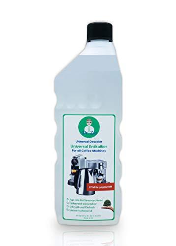 Dr. Zio Universal Entkalker 1000ml, Kompatibel mit allen Herstellern, Entkalker für Kaffeemaschinen und Kaffeevollautomaten, auch für andere Haushaltsgeräte wie Wasserkocher