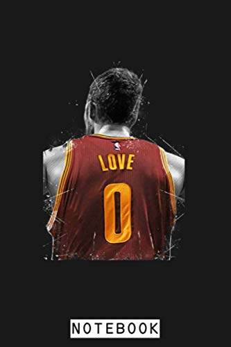 Kevin Love Notebook: Planner, Journal, Lined College Ruled Paper, Matte Finish Cover, Diary, 6x9 120 Pages