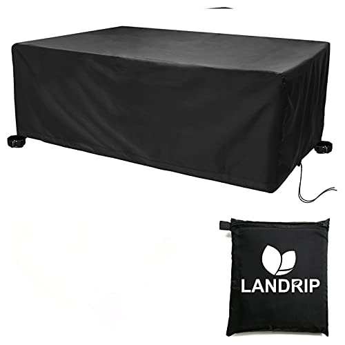 Landrip Garden Furniture Covers Extra Large Outdoor Table Covers Waterproof, Heavy Duty Windproof Rectangular Patio Furniture Set Cover - 315x160x74CM