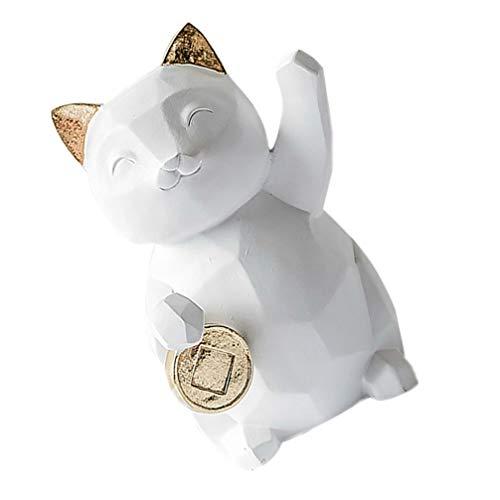 Homoyoyo Maneki Neko Money Lucky Cat Figurine Maneki Neko Kitty Coin Bank Porcelain Money Change Pot 2020 Año Nuevo Ornamento Feng Shui Decor