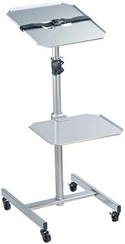 General Office Beamertisch: Variabler Profi-Projektor-Wagen mit 2 Ablage-Ebenen (Beamerwagen)