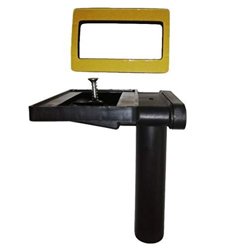 Keenberk Überlauf 90° für Spülen mit Überlauf in Ablagefläche neben dem Becken - rechteckig flach - 50mm x 80mm