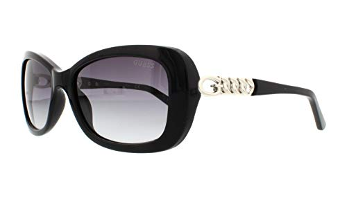 Guess GU7453E Gafas de sol, Negro (Negro LucidoFumo Grad), 56.0 Unisex Adulto
