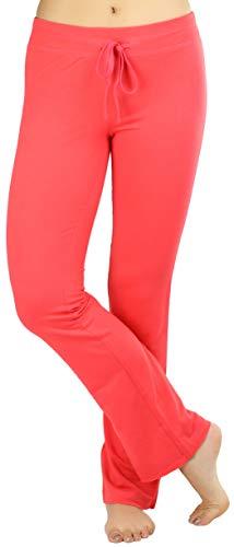 ToBeInStyle Women's Drawstring Waist Skinny Flare Lounge Pants