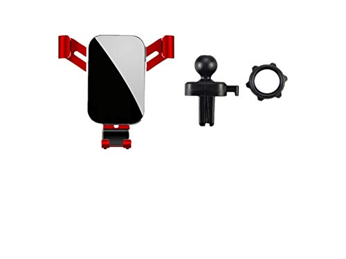 ABS Gravity Phone Holder Car Air Vent Clip Mount Smartphone Soporte para Opel Corsa Astra Insignia Meriva Zafira Mokka Grandland (Color : Silver)