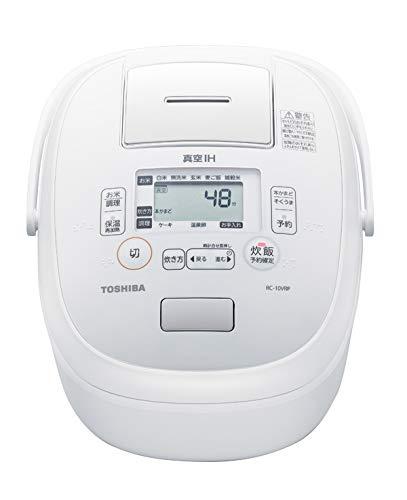 東芝 真空IHジャー炊飯器(5.5合炊き)ホワイトTOSHIBA 炎匠炊き RC-10VRP-W