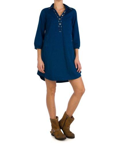 REPLAY - Vestido Mujer, Color Azul, Talla 34 (X-Small)