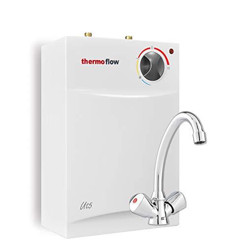 Thermoflow THERMOFLOWSETU UT 5 N Untertischspeicher Set 5 Liter mit Armatur QMIX12, 230 V, weiß, (H x B x T): 495 x 275 x 185 mm inkl