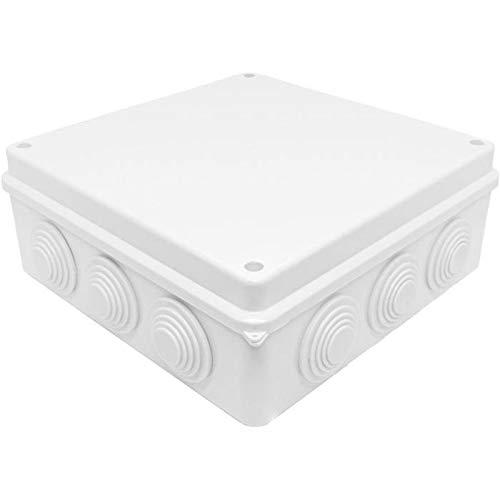 Caja de conexiones IP65 200x200x80mm 12 Aberturas Caja de empalme Blanco Terminal Conexión
