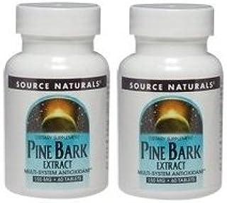 【2個セット】 [海外直送品]Source Naturals パインバーク(松樹皮)エキス 150mg 60粒 Pine Bark Extract M...