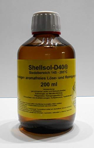 200 ml Shellsol-D40®, Siedebereich 145-205°C°C, Kaltlreiniger, aromafreies Lösungsmittel