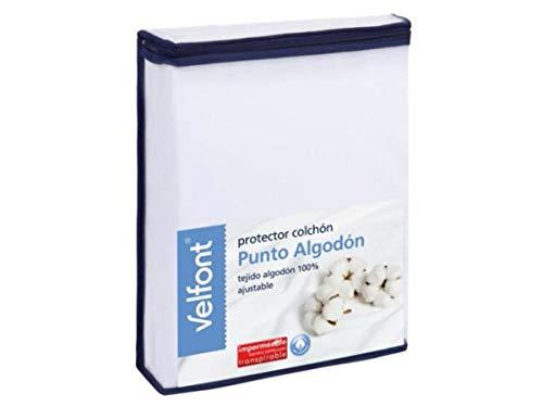 Velfont - Protector Punto Algodón 150, Blanco