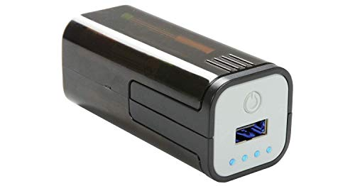 pow1–Notfall-USB-Akku, Ladegerät, Kompakt, Tragbar, 4AA Batterien, Ideal für Smartphones, Tablets, Handy, Apple, iPhone, Android