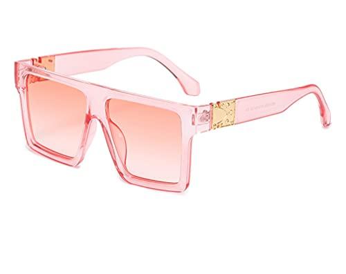 ODNJEMSD Stylish Large Frame Sunglasses Retro Box Long Face Sunglasses