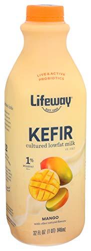 Lifeway Low Fat Kefir Cultured Milk Smoothie, Mango, 32 Ounce