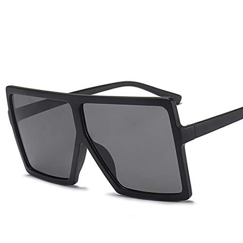 Gafas de Sol Sunglasses Gafas De Sol De Gran Tamaño Mujeres Marca Gafas De Sol Cuadradas Marrón Negro Rosa Tonos De Lente Uv400 Gafas De Mujer Low Grey