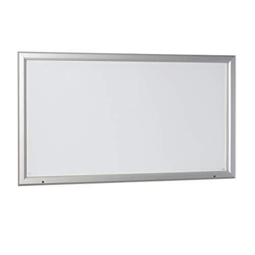 office akktiv Vitrine d'affichage à cadre aluminium, pour l'intérieur et l'extérieur - avec porte ouvrant vers le haut - l x h ext. 2125 x 1067 mm, capacité 27 feuilles A4 - vitrine d'affichage vitrine de présentation vitrine murale vitrine pour affiches